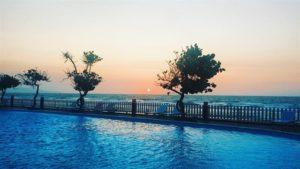 Hoàng hôn tại hồ bơi Intourco Resort Vũng Tàu